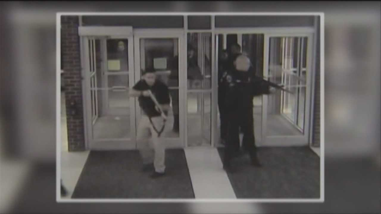 Police release video of the instant tactical teams storm a school during a lockdown last week.