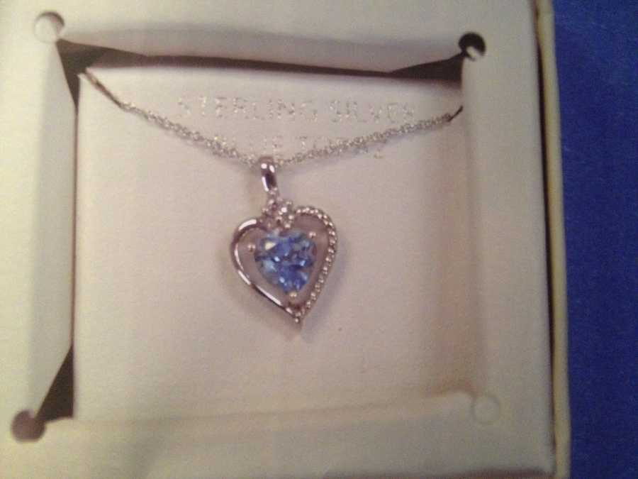 Investigators said the girl may have been wearing this necklace.