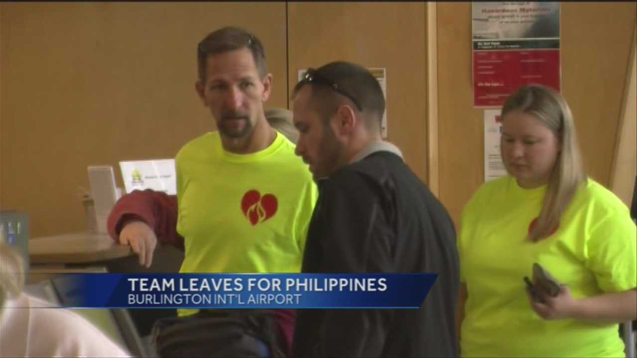Three health care workers have left Vermont for the Philippines to help following Typhoon Haiyan.