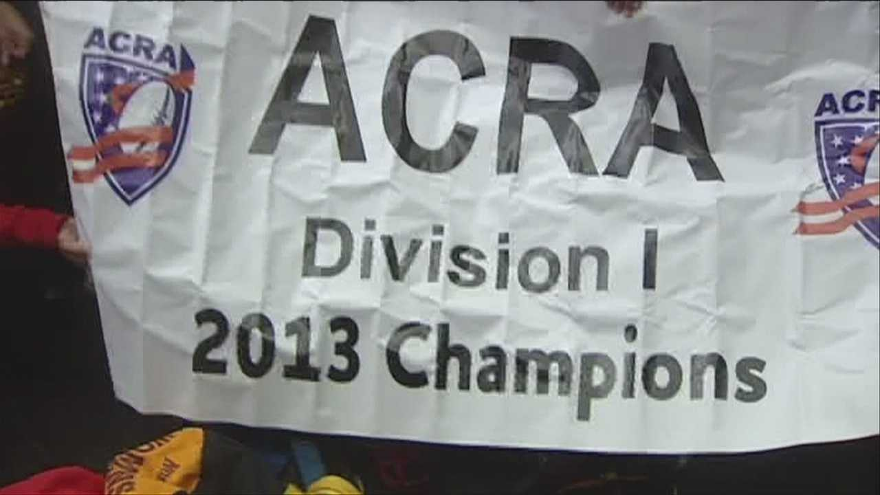 Norwich women's rugby wins 2013 15's National Title.