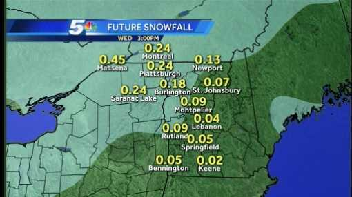Snow squalls and snow showers are expected roll across the region Wednesday evening.