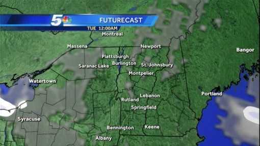 Light snow moves into the region Tuesday afternoon.