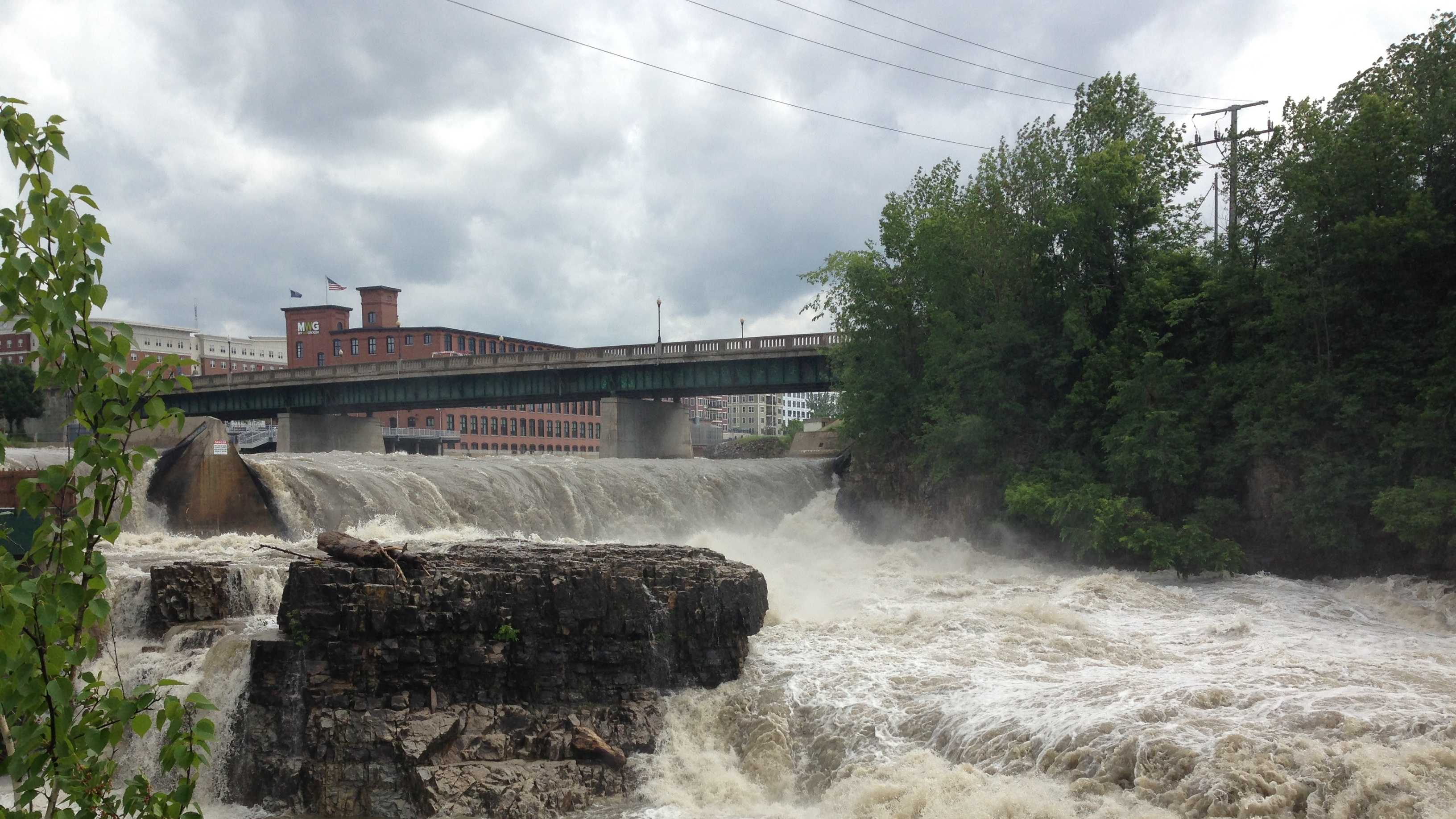 Storms trigger high water along the Winooski River in 2013.