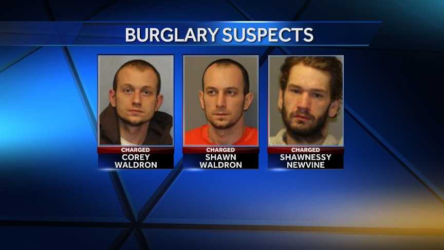 Trio arrested in string of burglaries 12-20 -img