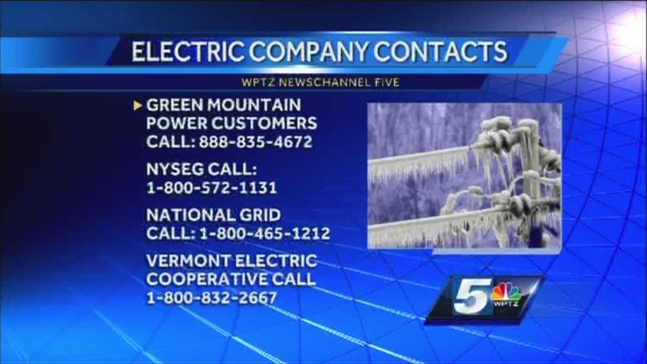 Power companies emergency numbers