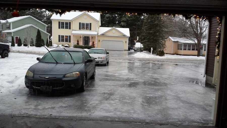Colchester, Vermont, motorists should drive with caution as ice has formed all over roadways.