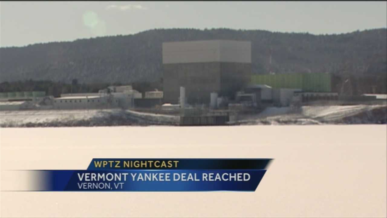 Gov. Peter Shumlin, D-Vt., announced a deal with Entergy to close the Vermont Yankee nuclear power plant in 2014 and set up a timeline for decommissioning.