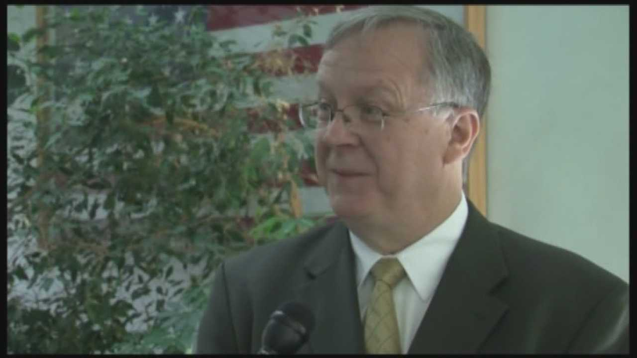 Plattsburgh Mayor Jim Calnon was sworn in on New Year's Day.