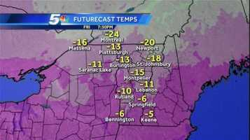 Track Friday and Saturday's temperature changes with WPTZ's hour-by-hour future forecast.