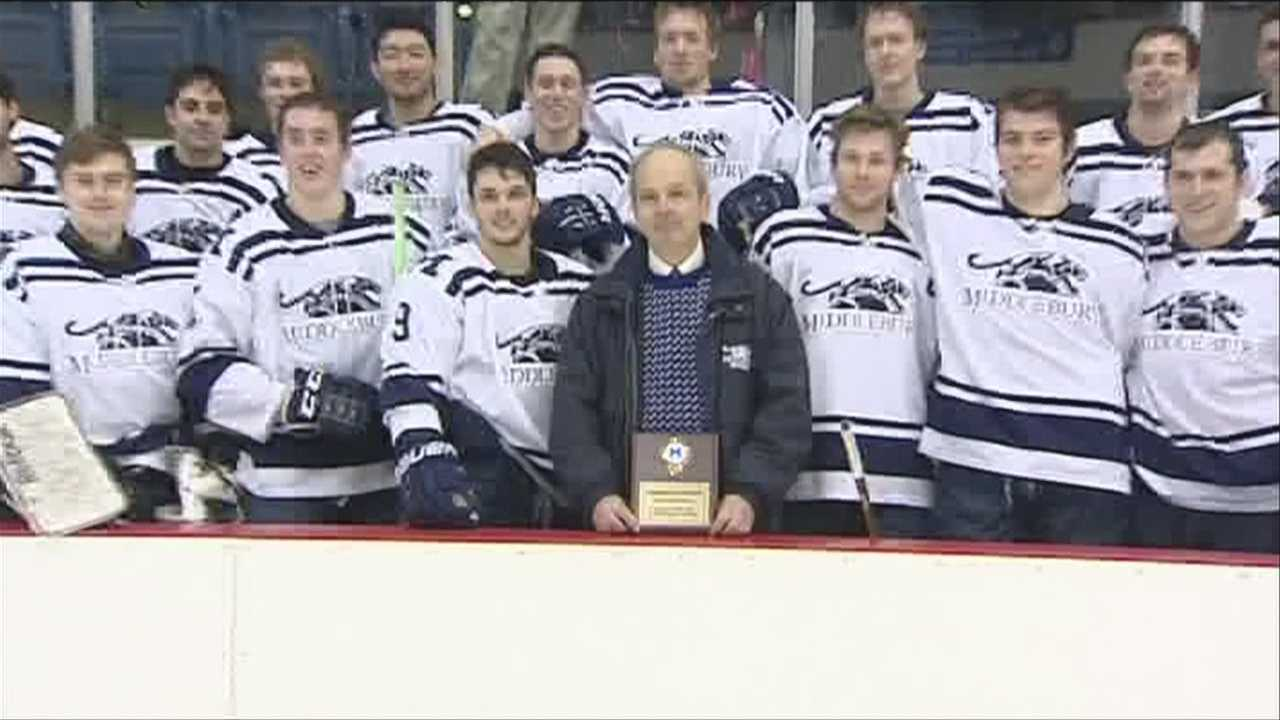 Middlebury's win, an historic one for coach Beaney