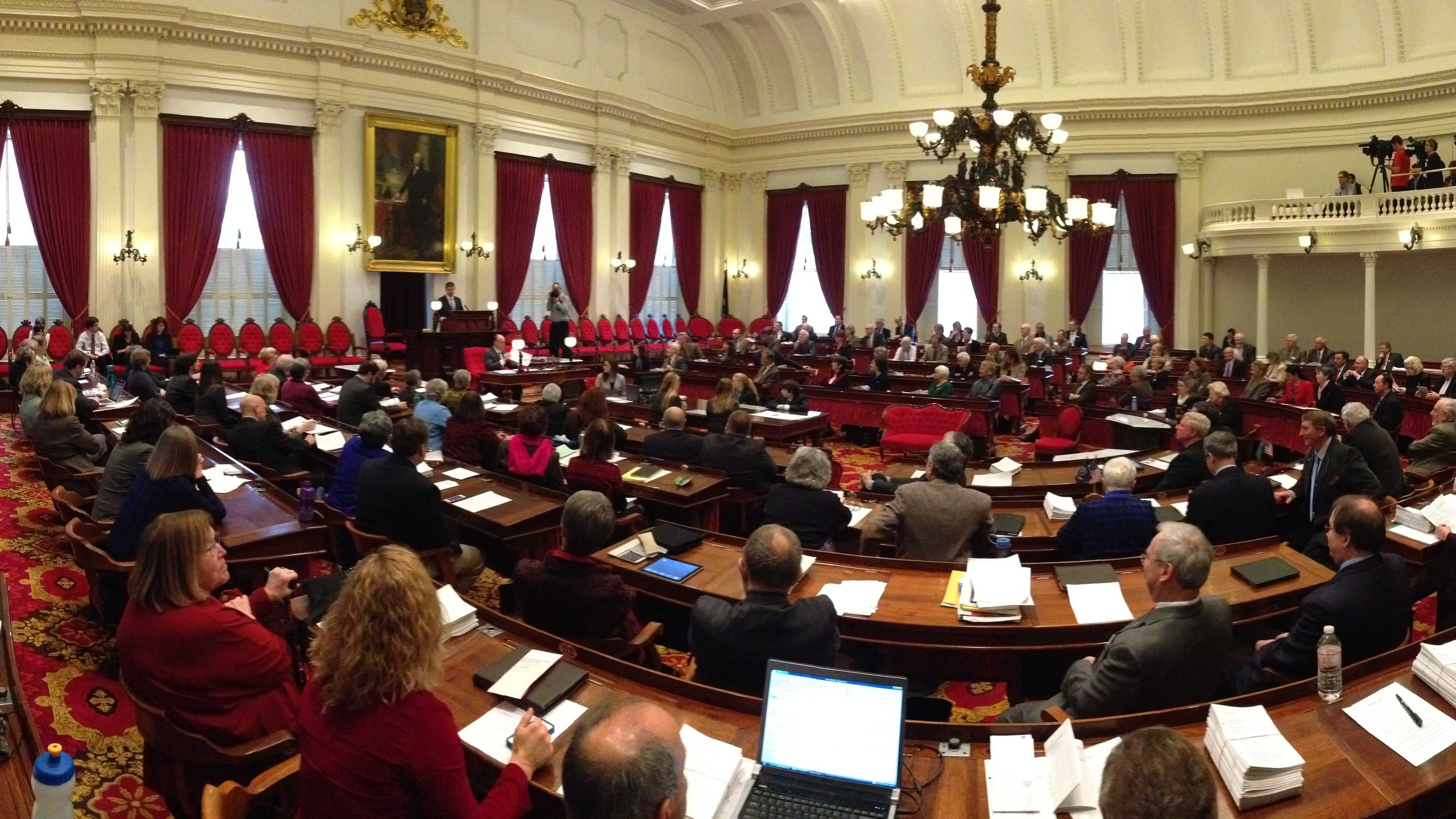 Speaker Shap Smith addresses the House on opening day.
