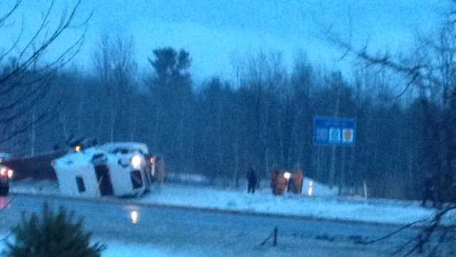 Icy road conditions slow traffic on interstates