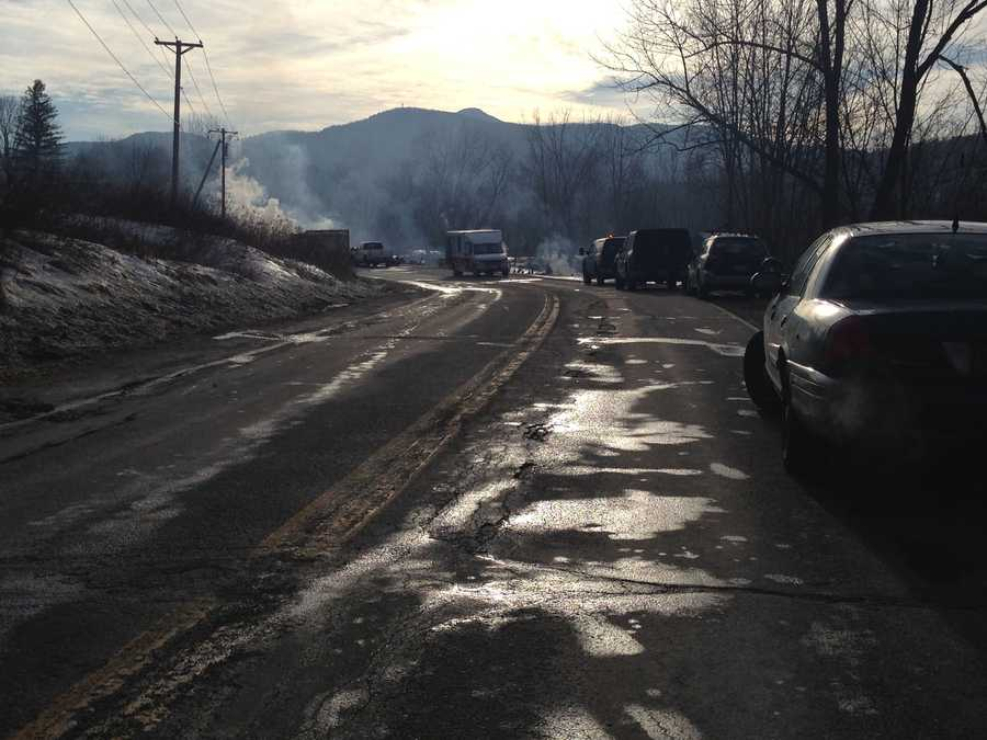 A Vermont road has been closed twice, first for flooding, then for a barn fire. Vermont State Police say barn fire was reported at about 5:35 a.m. Monday on U.S. Route 2 in Richmond. The road has been closed from the Richmond 4 Corners to Cochran Road in Jonesville. The fire could be seen from Interstate 89.