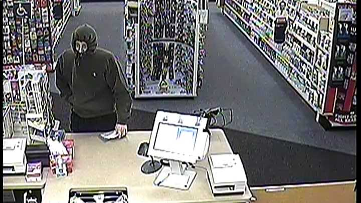 The Berlin Police Department are searching for this man accused of robbing the CVS Pharmacy on Monday, Jan. 13, 2014.