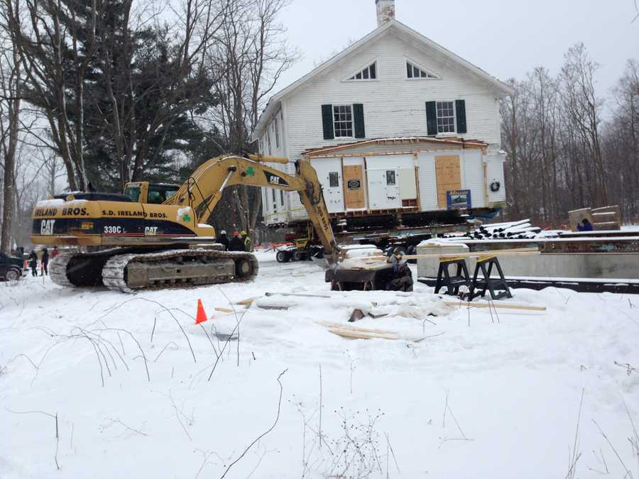 On Monday, Jan. 20, a developer moved a historic New North End farmhouse.