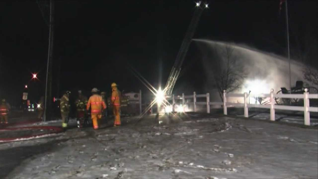 img-Fire burns local business