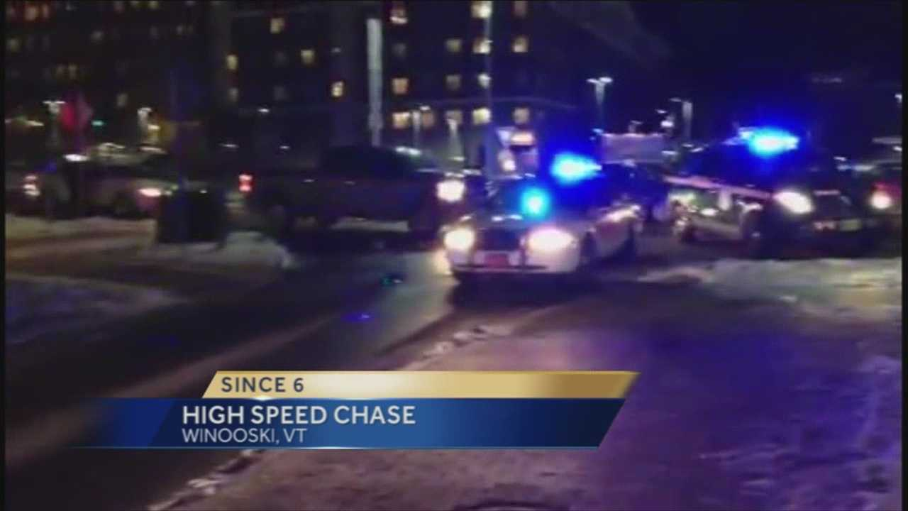 A driver is in custody following a heated police chase.