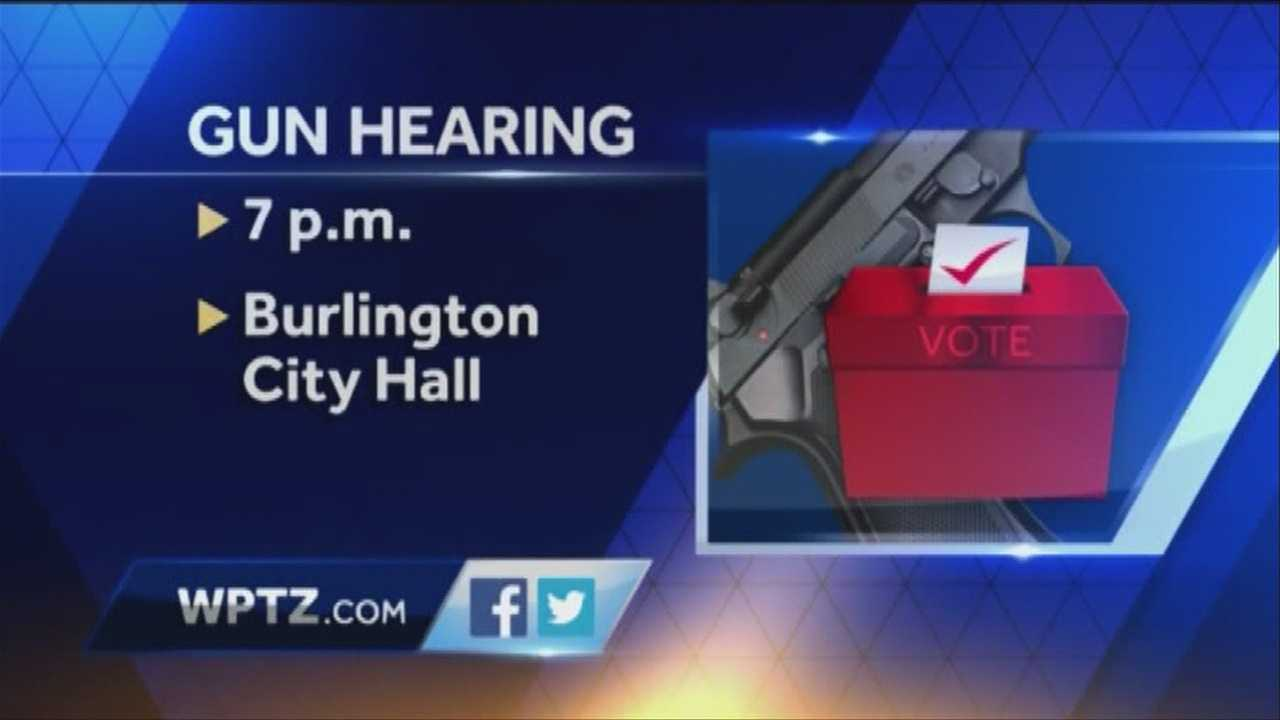 Should restrictions be put on guns in Burlington? City Council holds a final hearing on the topic Monday.