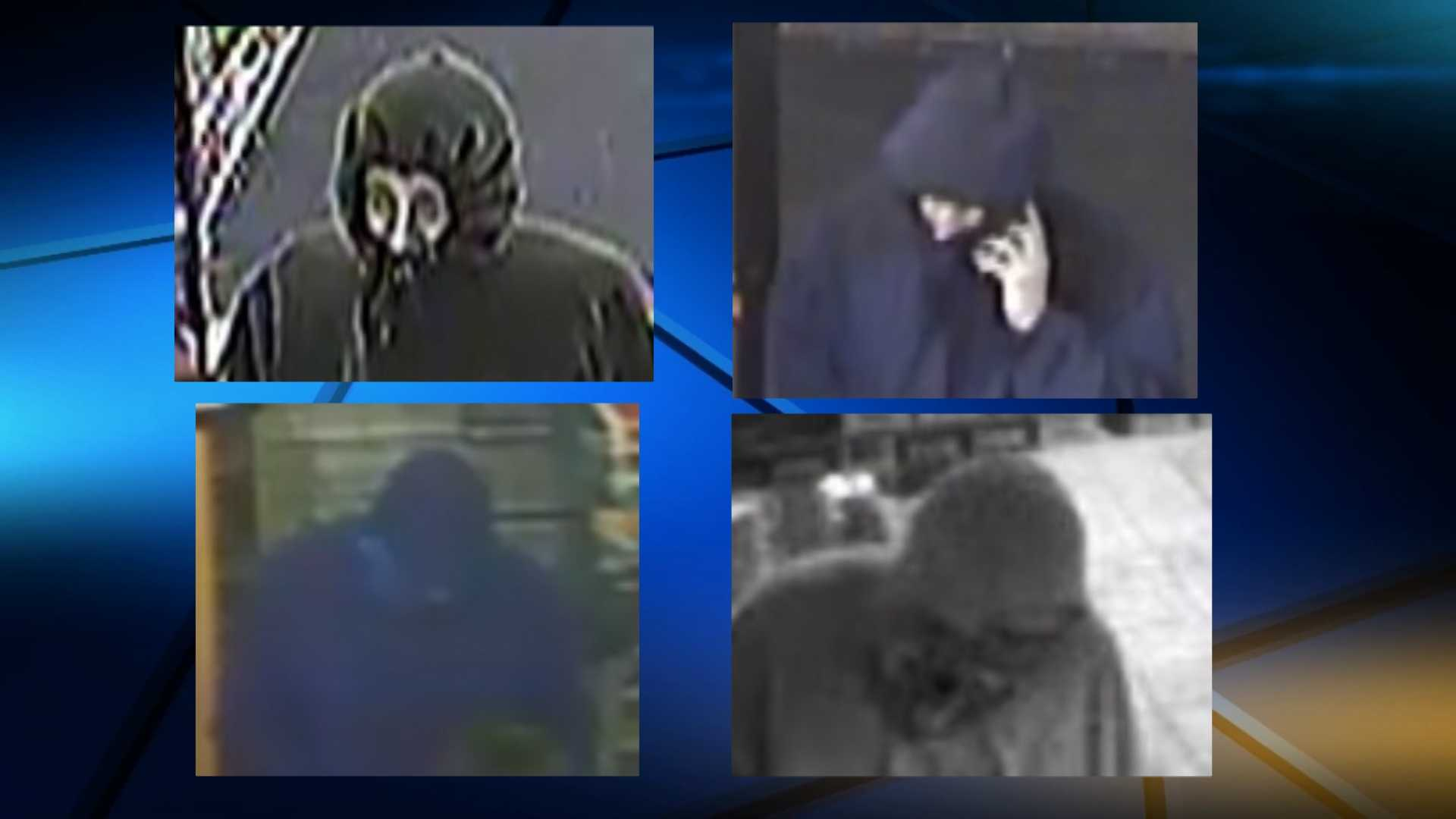 Police in central Vermont are searching for a man or men who have robbed eight convenience stores, markets or pharmacis since New Year's Eve.