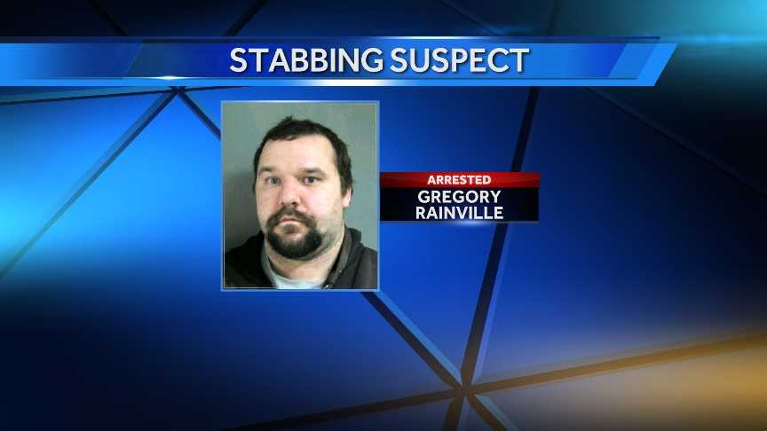 Gregory Rainville, 27, was charged with domestic assault on Monday after he allegedly stabbed another man in an argument over doughnuts.
