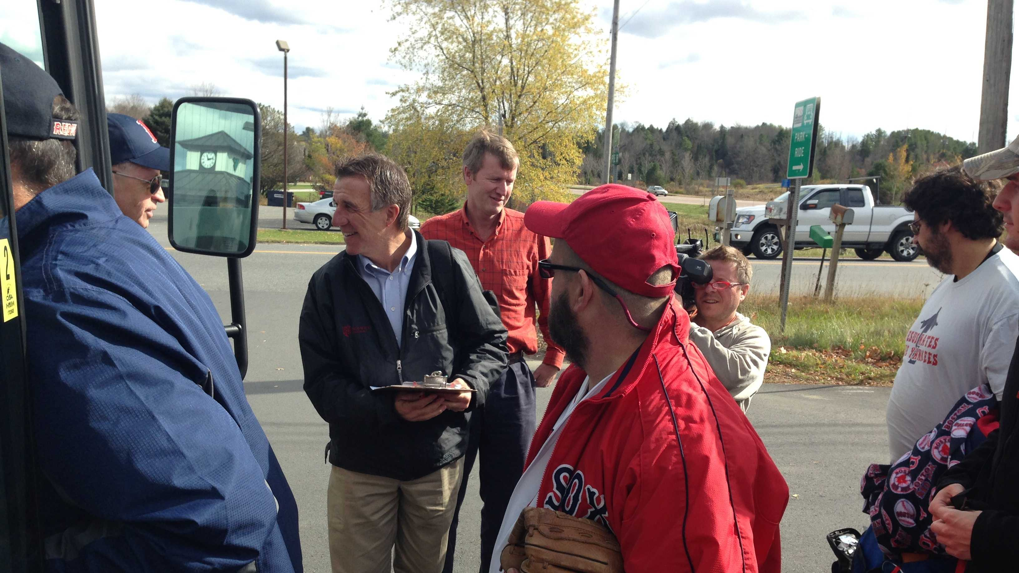 Lt. Gov. Phil Scott joined Red Sox fans for a trip to the World Series last fall.