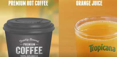 Coffee and orange juice will also be on the menu