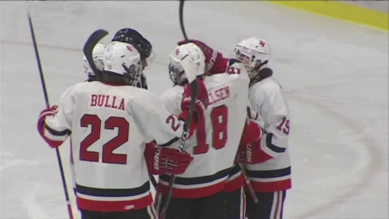 Redhawks get 2 goals from Rivard, beat Colchester in semies.