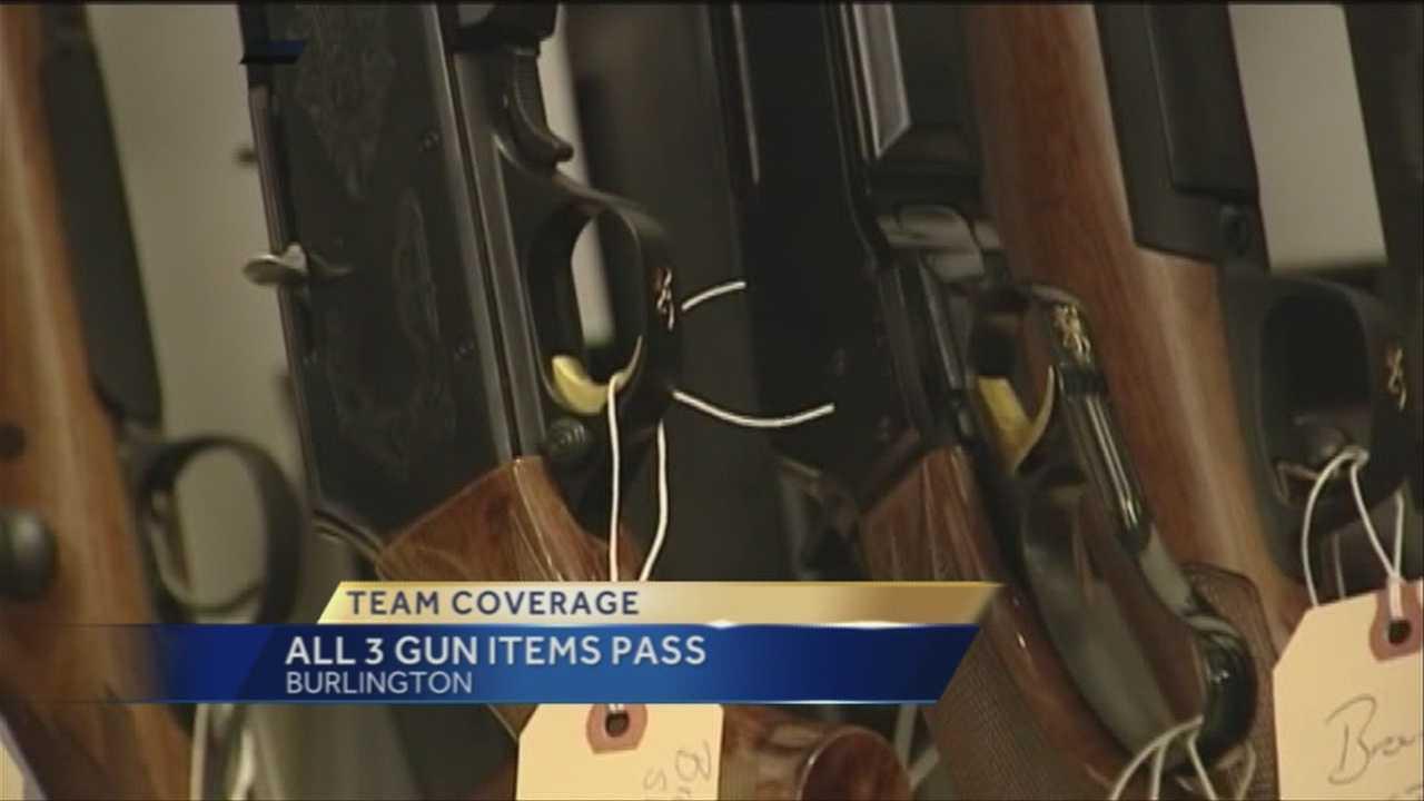 3 Burlington gun items pass