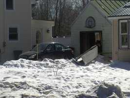 Police say a Swanton man was injured and his garage damaged during a propane explosion Friday morning.