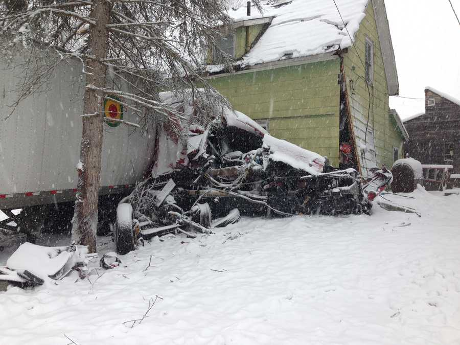 Vermont State Police say the driver of a semi-truck lost control of the vehicle while traveling along Route 3 in Proctor and crashed into a house on the corner of Route 3 and Field Road.
