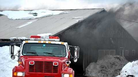Barn Fire in Clarendon