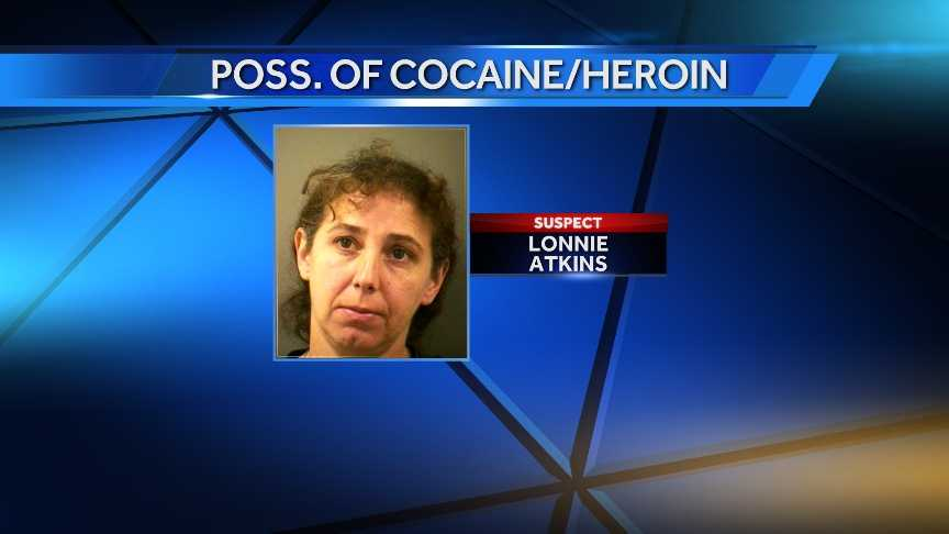 On March 23, 2014, Lonnie Atkins of Winooski, Vt. was cited on charges of possession of heroin and cocaine.