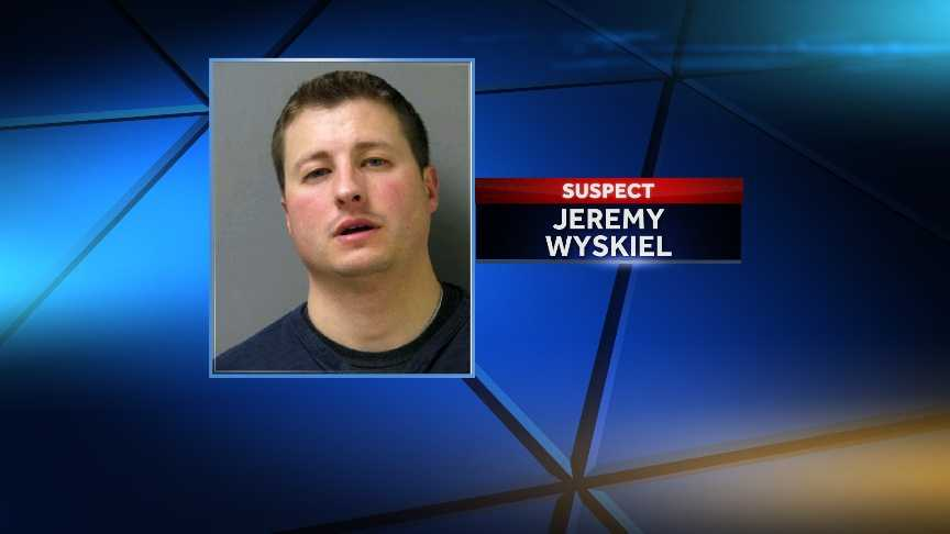 Colchester police officer Jeremy Wyskiel was cited on a DUI charge on March 24, 2014.