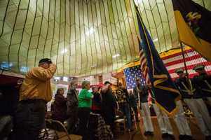 Dozens of Vietnam War veterans and their families gathered at Norwich University on Sunday for a welcome-home celebration hosted by the Vietnam Veterans of America Vermont State Council.