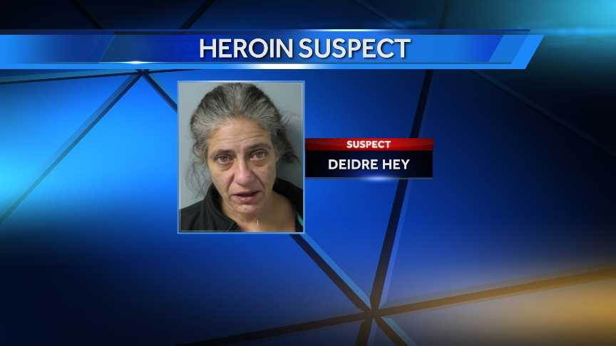 Deirdre Hey, 47, of Winooski, was taken into custody on March 27, 2014 for allegedly selling heroin.