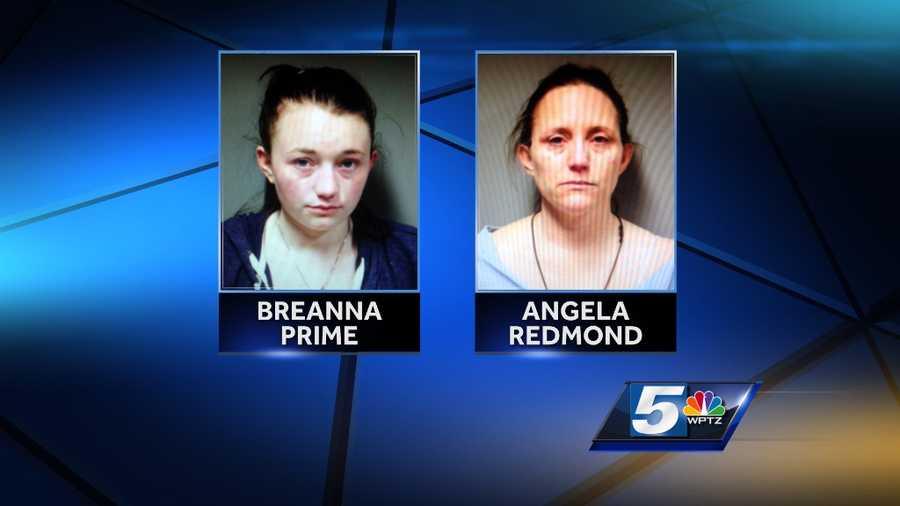 Breanna Prime, 19, and Angela Redmond, 41, were arrested Thursday in Hartford, Vt. on possession of heroin.