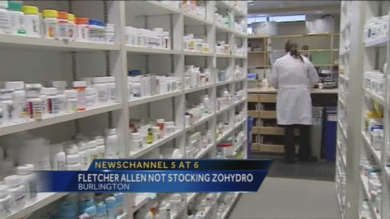 Vermont's largest hospital says Zohydro is likely to abuse, too dangerous to keep in house.