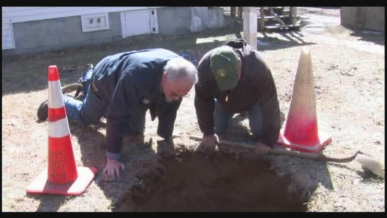 Town officials lend a hand
