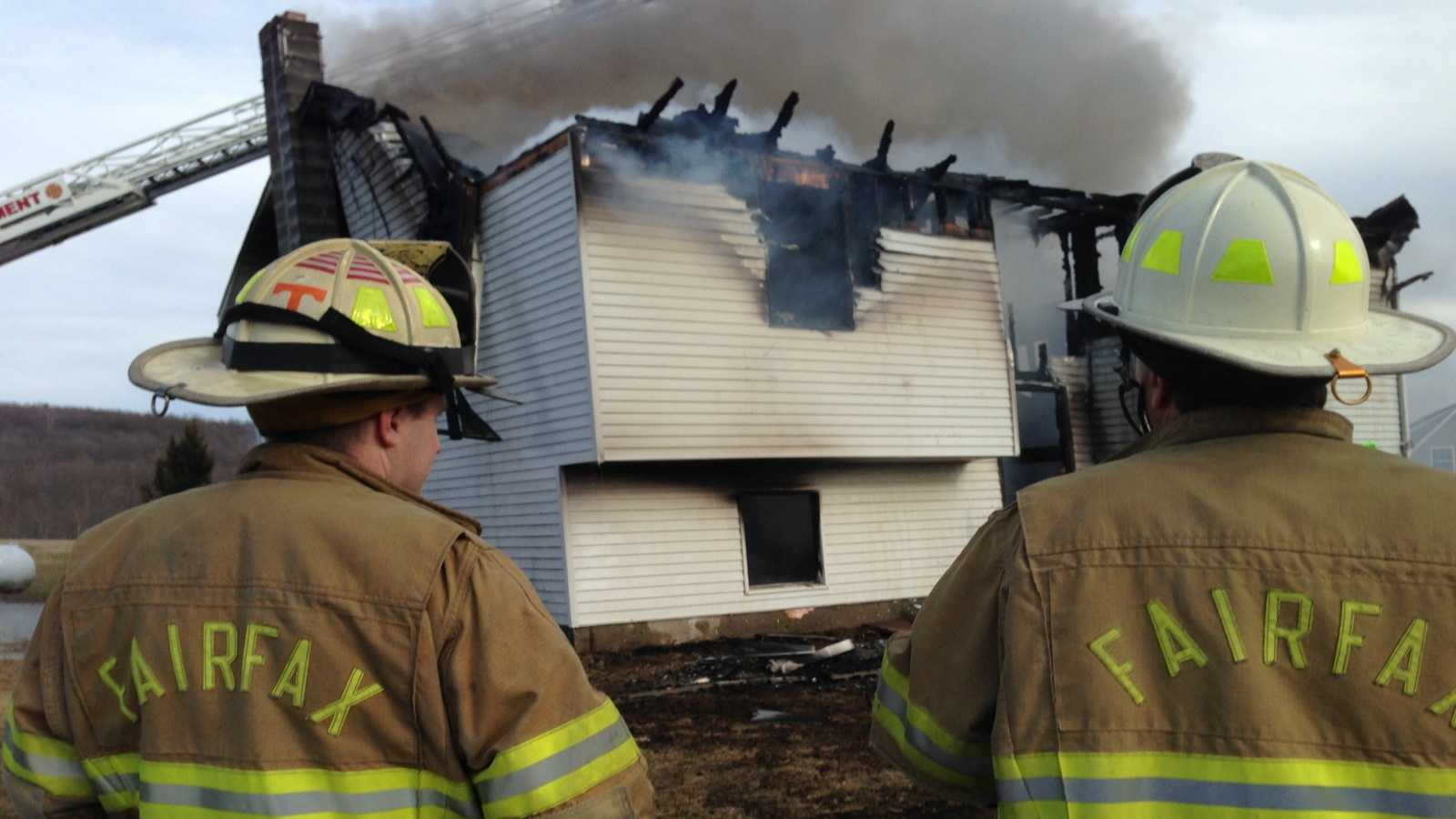 A fire tore through a Main Street, Fairfax home Friday afternoon.