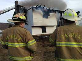 A fire tore through a Main Street, Fairfax home Friday afternoon.