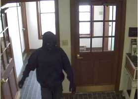 Swanton police are searching for a suspect who robbed the TD Bank in Swanton Monday.