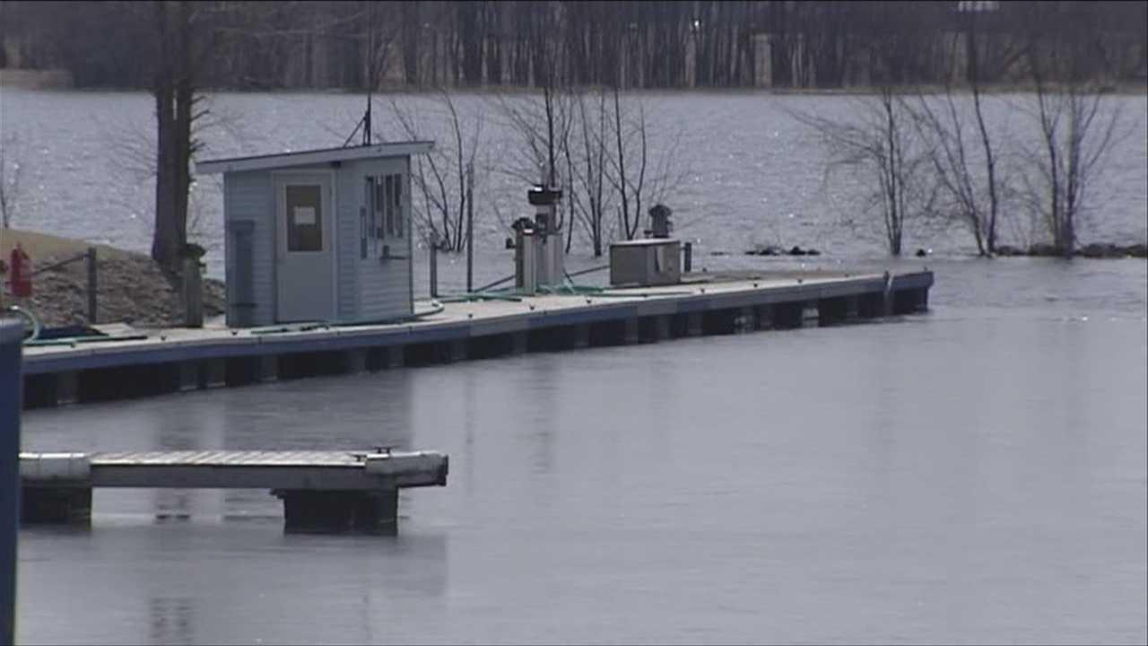 Flooding causes debris in water