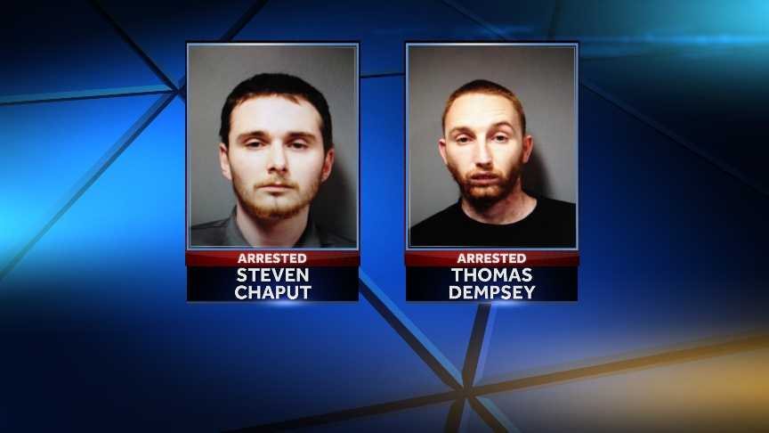 Thomas Dempsey, 26, of New Jersey, and Steven Chaput, 24, of Hartford, Vt. were arrested on April 17, 2014 after allegedly selling $1,200 worth of Percocet to undercover police.