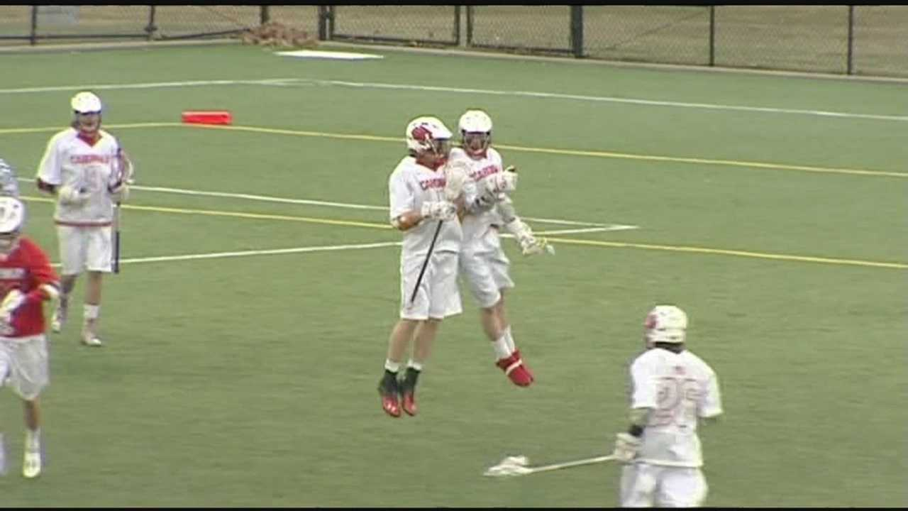Plattsburgh lacrosse gets big offense in clinching win.