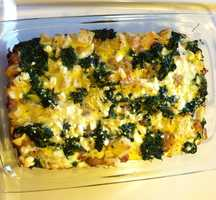 A yummy breakfast casserole made by Abigail Curran, weekend morning producer.