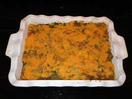 Of the WPTZ crew, Alison probably has the healthiest diet. Here's her homemade lentil and sweet potato shepherd's pie. Her meals get healthier from here.