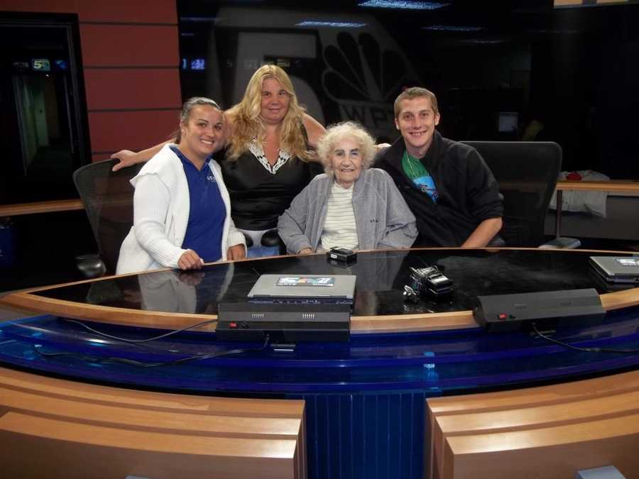 Jeremy brought his mom and grandma to the ol' WPTZ studios! Also pictured is Collette, one of our directors.