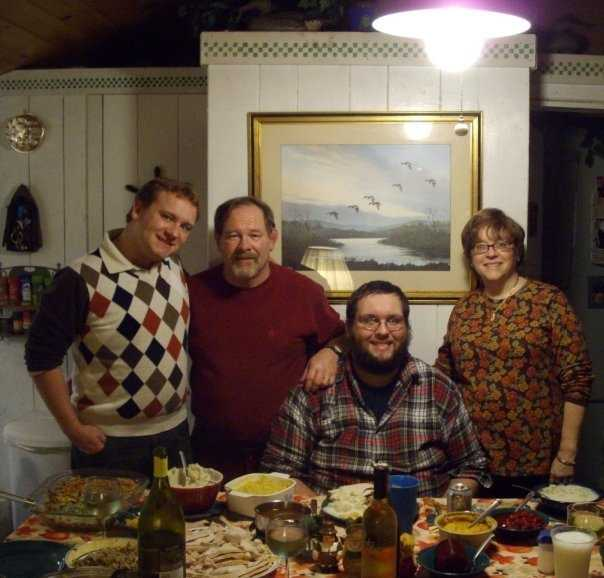 Enjoying a Holiday Meal at the Family camp on Lake Champlain in Colchester. My Mom, Jane always goes out of her way to prepare something special for everyone! - Promotions Producer Steve Kuntz