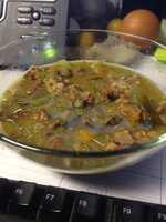 Collette's homemade hambone soup with lentils and every vegetable in the fridge!