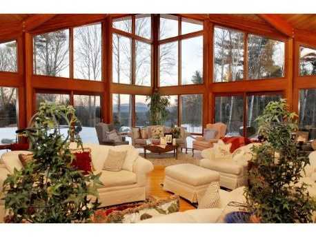 Inside, the home features floor-to-ceiling windows, so you can still enjoy the views.